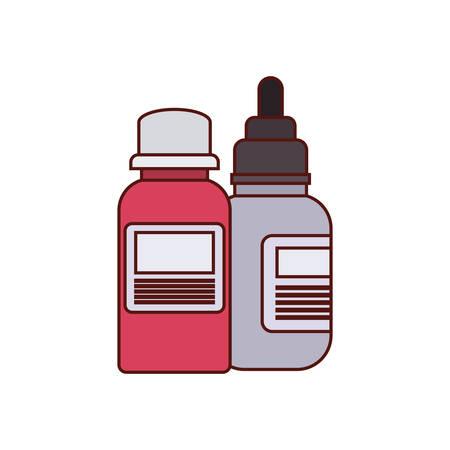 bottle drugs and droplet medicine vector illustration design