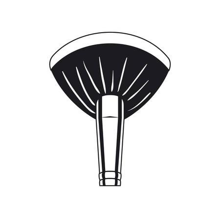 applicator make up thick brush accessory vector illustration design