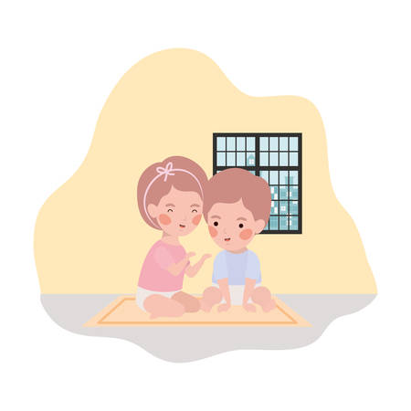 cute little kids babies characters vector illustration design 版權商用圖片 - 129803718