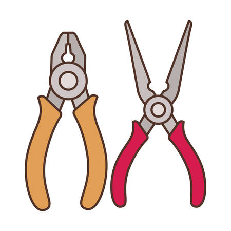 plier tool isolated icon vector illustration design Ilustracja