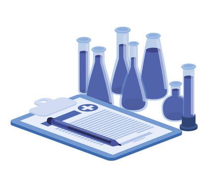 laboratory instruments in white background vector illustration design Stock fotó - 129830699