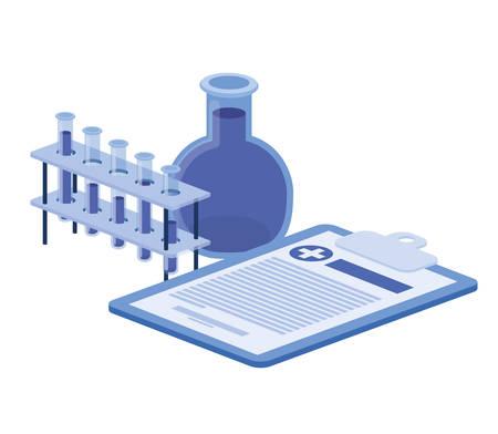laboratory instruments in white background vector illustration design 일러스트