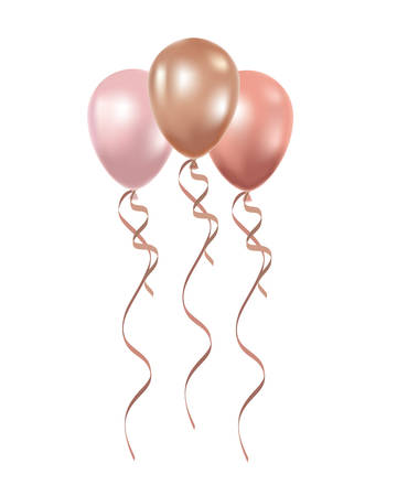 helium balloons on white background vector illustration design Illusztráció