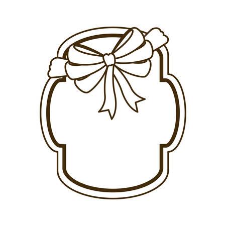 silhouette of frame with ribbon in white background vector illustration design 版權商用圖片 - 129859420