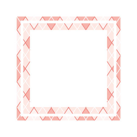 textile pattern frame isolated icon vector illustration design Ilustrace