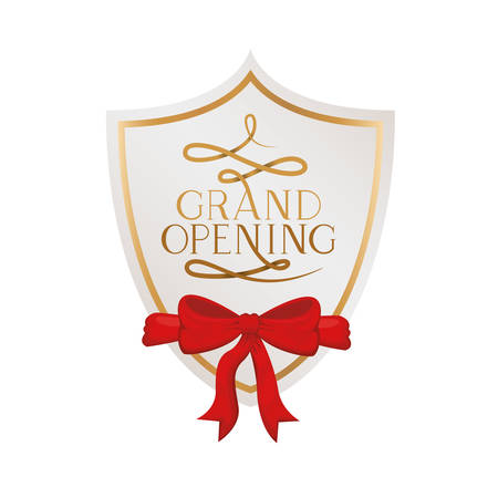 frame and ribbon with label grand opening vector illustration design 版權商用圖片 - 129859793