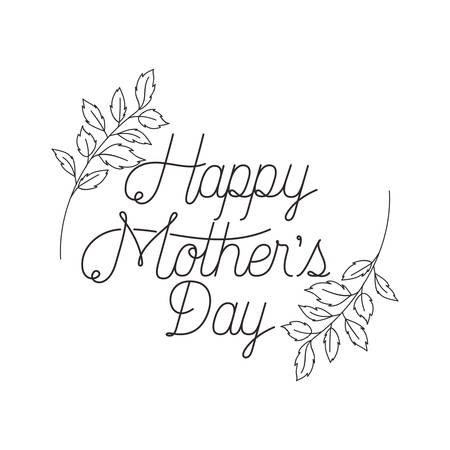 happy mothers day label icon vector illustration design