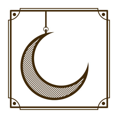 moon hanging isolated icon vector illustration design