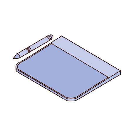 tablet on white background vector illustration design  イラスト・ベクター素材
