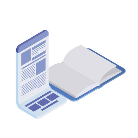 book of school open with white background vector illustration design