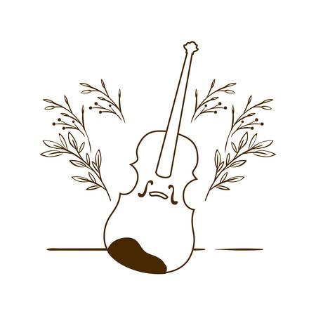 musical instrument fiddle on white background vector illustration design Фото со стока - 129860275