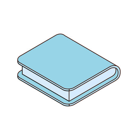 book of school with white background vector illustration design Illustration