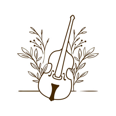 musical instrument fiddle on white background vector illustration design Фото со стока - 129860514