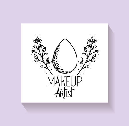 dro with leafs wreath make up artist vector illustration design Stock fotó - 129860553