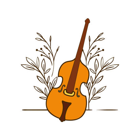 musical instrument fiddle on white background vector illustration design 向量圖像