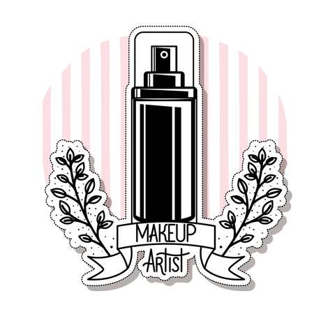 glass bottle of cosmetics product in white background vector illustration design Illustration