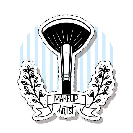 makeup brushes on white background vector illustration design 矢量图像
