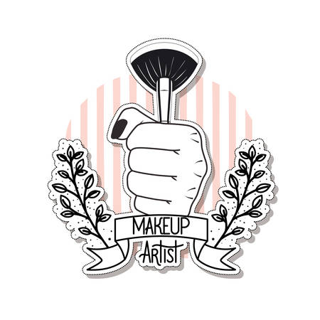 makeup brushes on white background vector illustration design 일러스트