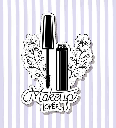 eyelash make up in frame vector illustration design Çizim