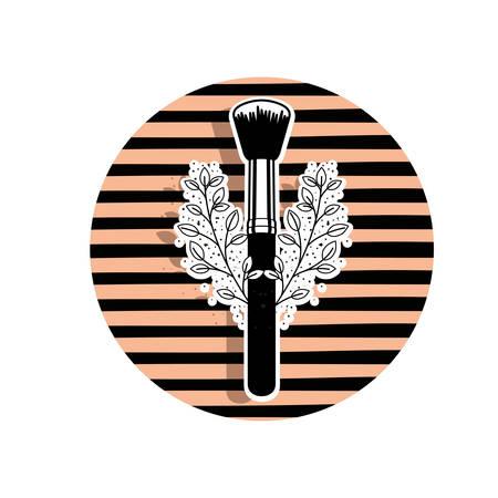 makeup brushes on white background vector illustration design Illustration