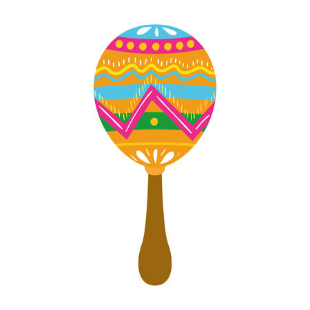 cute maracas isolated icon isolated icon vector illustration design