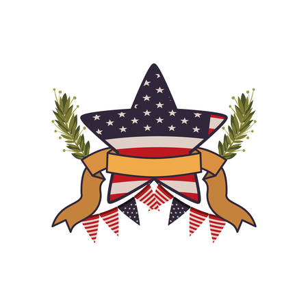 united states flag with star isolated icon vector illustration design Reklamní fotografie - 129931027