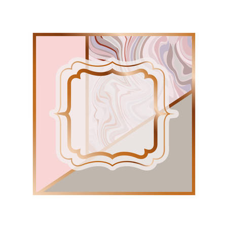 card with marble texture icon vector illustration design Ilustrace