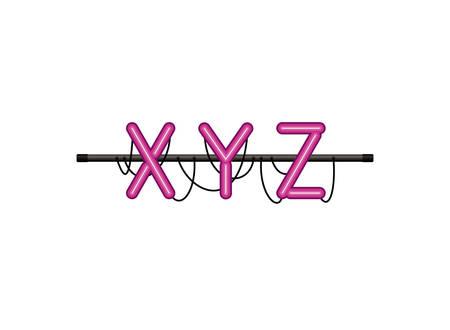 alphabet in neon light isolated icon vector illustration design Stock Illustratie
