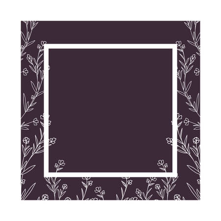 pattern plants and herbs isolated icon vector illustration design Çizim