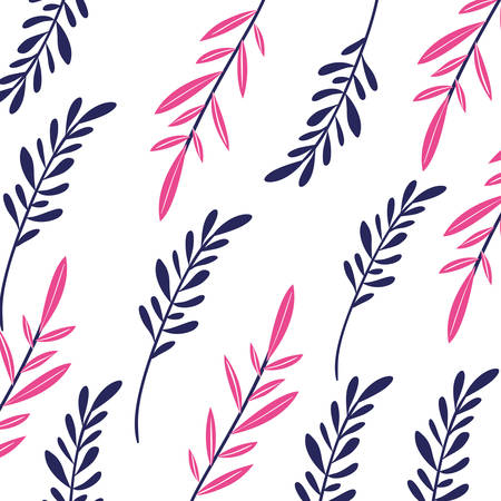 pattern of branch and leaf icon vector illustration design