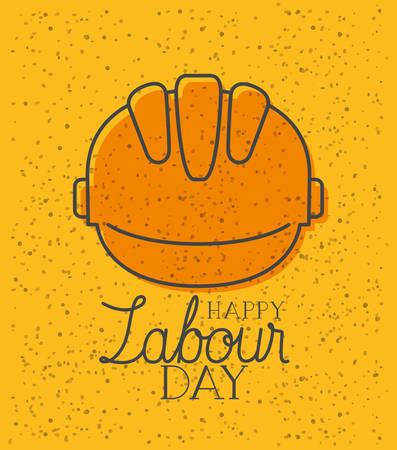 helmet construction labour day vector illustration design