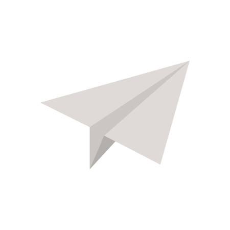 paper plane on white background vector illustration design
