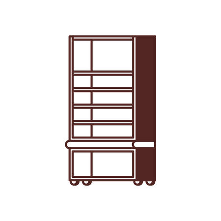 silhouette of bookshelf on white background vector illustration design