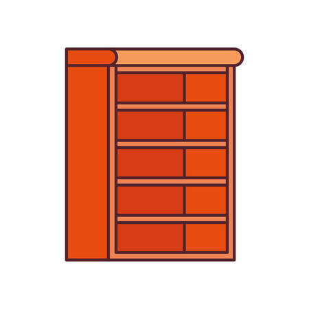 wooden bookshelf on white background vector illustration design Illustration