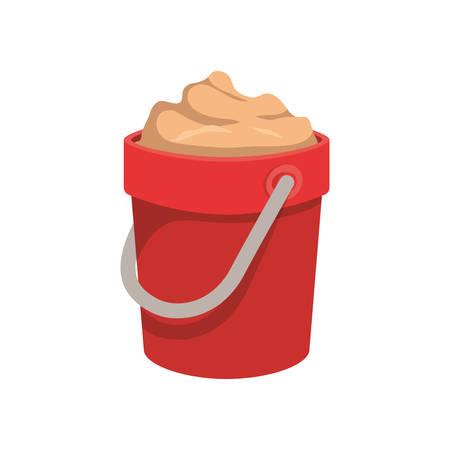 sand bucket on white background vector illustration design