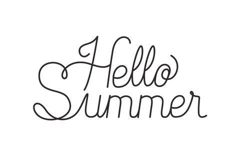 hello summer label isolated icon vector illustration design Çizim