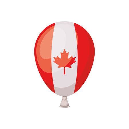 Maple leaf inside balloon and canada design, Culture national country travel and tourism theme Vector illustration