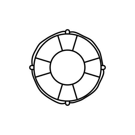 lifesaving float in white background vector illustration design