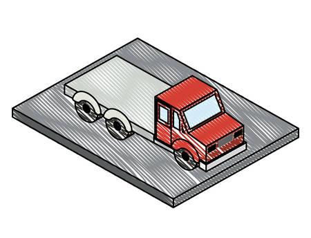 truck transport delivery icon vector illustration design