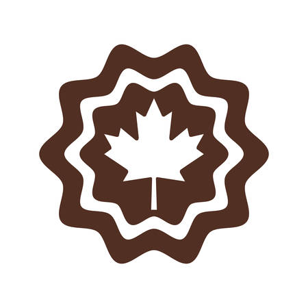 Canada maple leaf seal stamp design, Culture national country travel and tourism theme Vector illustration