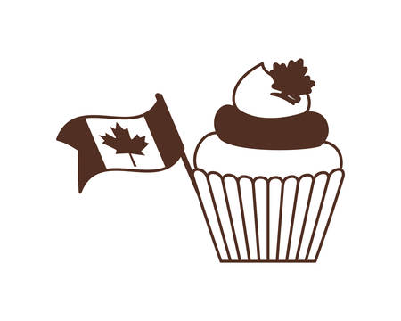 Cupcake of canada icon design, Culture national country travel and tourism theme Vector illustration