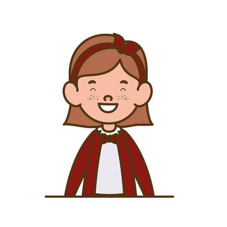 student girl smiling on white background vector illustration design