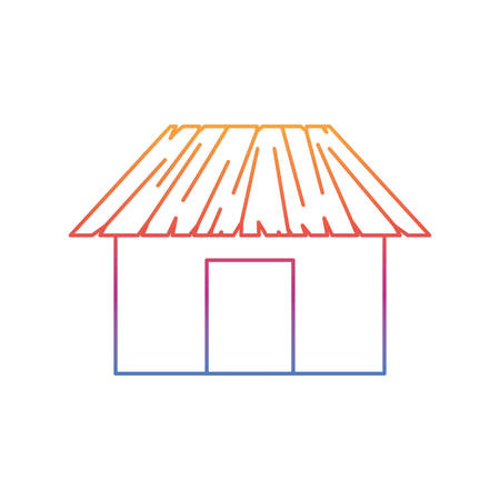 silhouette of house on the beach with white background vector illustration design Фото со стока - 129982753