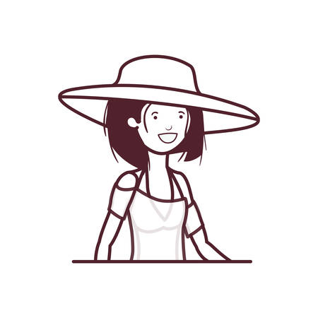 silhouette of woman with swimsuit on white background vector illustration design Banque d'images - 129931771