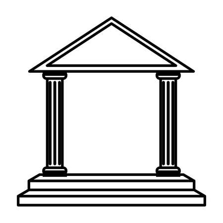 arch columns architecture isolated icon vector illustration design Ilustração