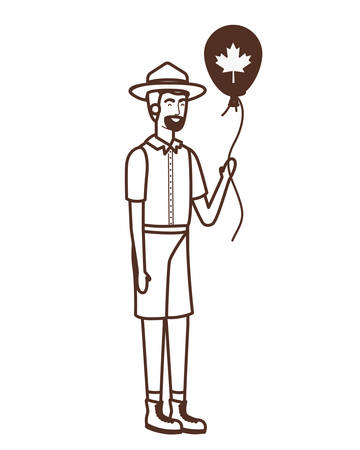 Canada forest ranger design, Culture national country travel and tourism theme Vector illustration