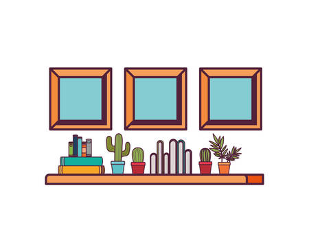 shelving with books in white background vector illustration design 向量圖像