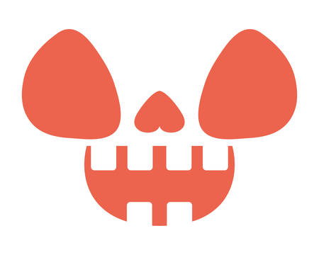 scary halloween face isolated icon vector illustration design