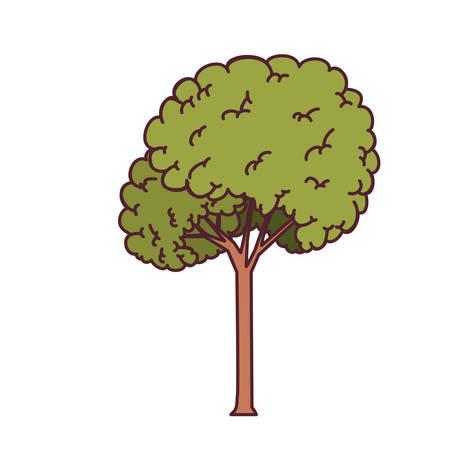 landscape with tall tree isolated icon vector illustration design Stock fotó - 129992517