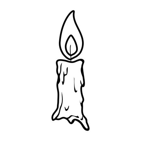 parafin candle halloween isolated icon vector illustration design